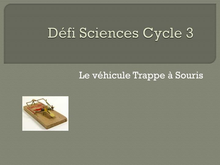 d fi sciences cycle 3 n.