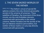 1 the seven sacred worlds of the father