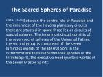 the sacred spheres of paradise