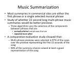 music summarization