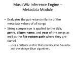 musicwiz inference engine metadata module