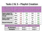 tasks 2 3 playlist creation