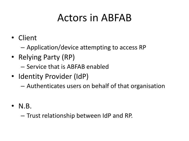 Actors in ABFAB