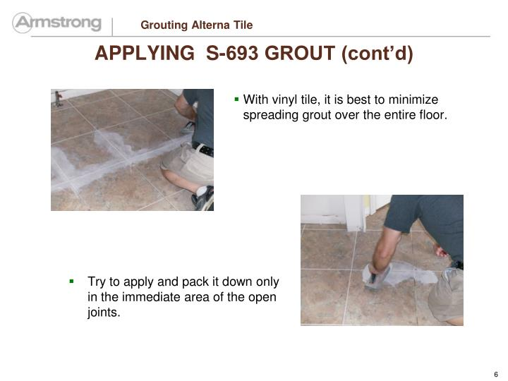 Grouting