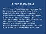 1 the tertiaphim