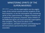 ministering spirits of the superuniverses
