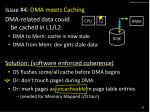 dma issues 4 caches