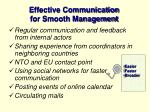 effective communication for smooth management