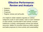 effective performance review and analysis