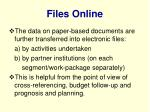 files online