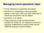 managing travel payments tips