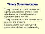 timely communication