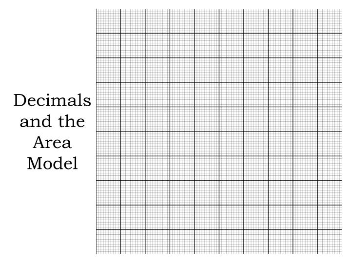 decimals and the area model n.