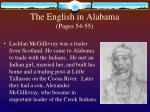 the english in alabama pages 54 551