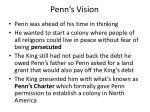 penn s vision