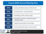 future naep annual meeting sites