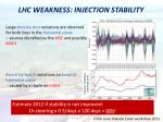 lhc weakness injection stability