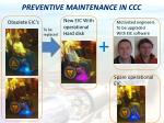 preventive maintenance in ccc