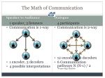 the math of communication