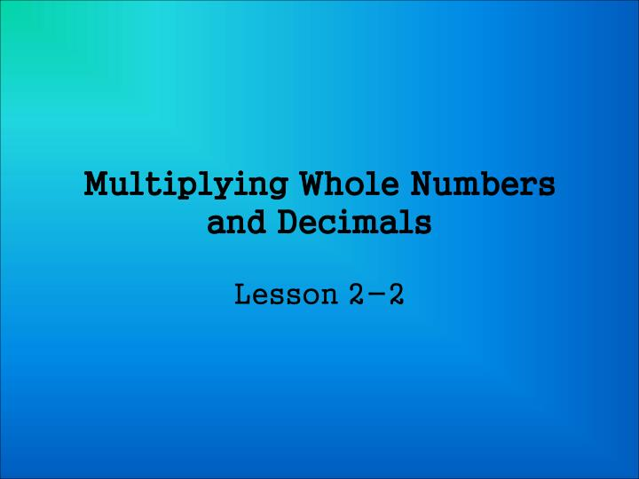 multiplying whole numbers and decimals n.
