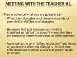 meeting with the teacher 1