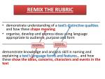 remix the rubric