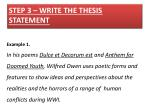 step 3 write the thesis statement
