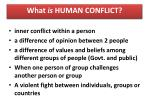 what is human conflict