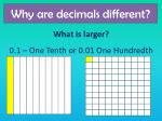 why are decimals different