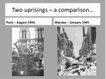 two uprisings a comparison