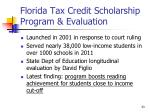 florida tax credit scholarship program evaluation