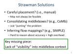 strawman solutions