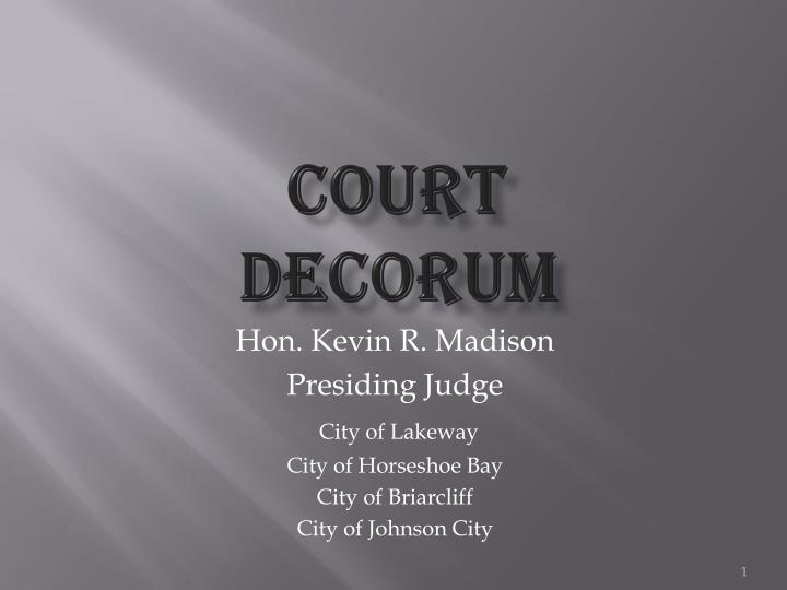court decorum n.