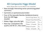 4d composite higgs model