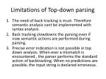limitations of top down parsing