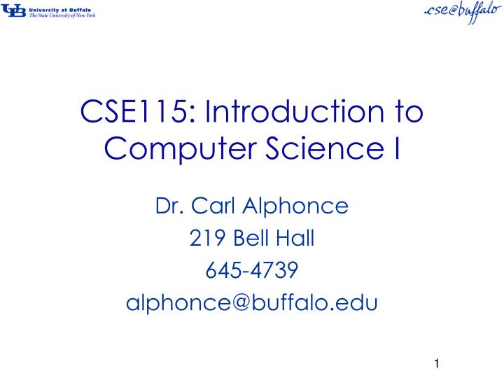 cse115 introduction to computer science i n.