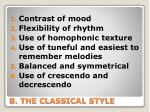 b the classical style