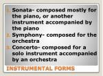 instrumental forms