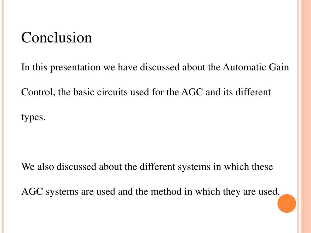 PPT - Signal Level Control (AGC) PowerPoint Presentation