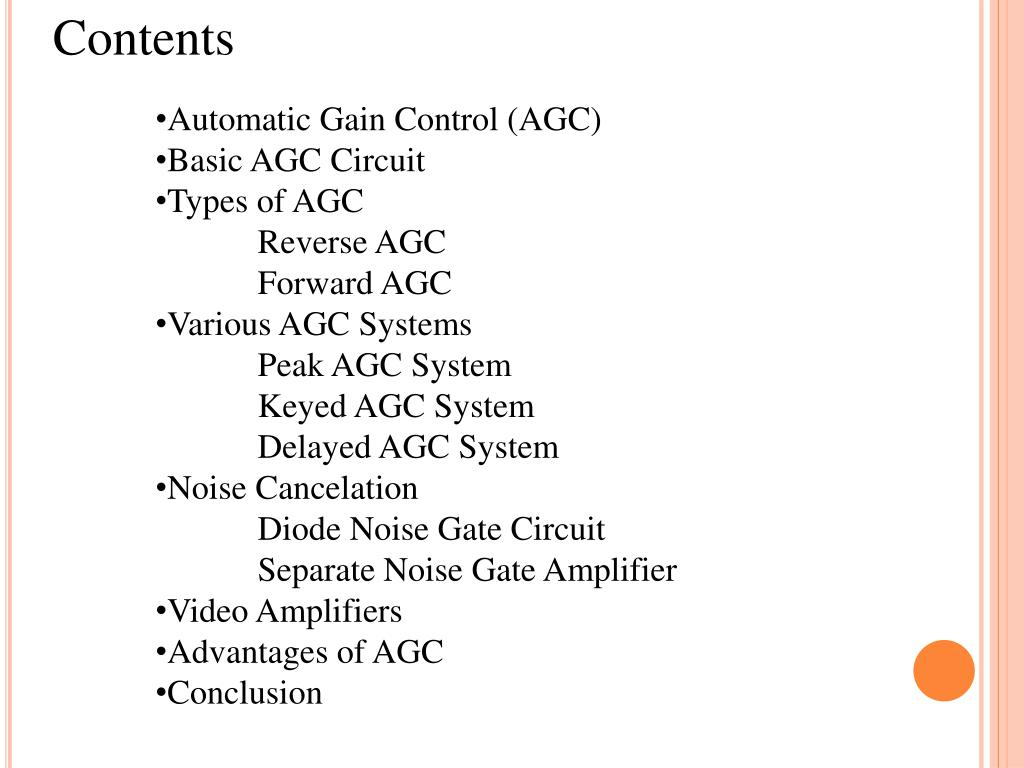 PPT - Signal Level Control (AGC) PowerPoint Presentation - ID:2236305