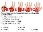 hinge question1