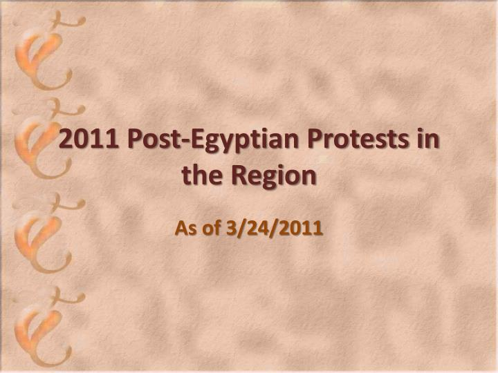 2011 post egyptian protests in the region n.