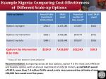 example nigeria comparing cost effectiveness of different scale up options