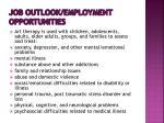 job outlook employment opportunities