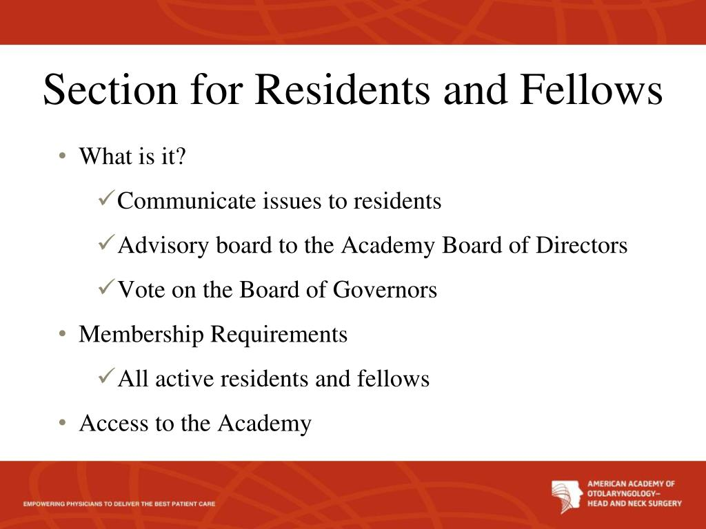 PPT - AAO-HNS Section for Residents and Fellows 2011 Update