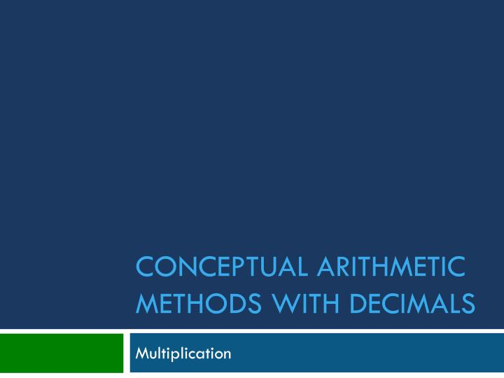 conceptual arithmetic methods with decimals n.