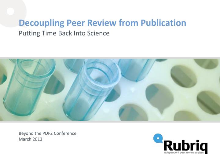 decoupling peer review from publication n.