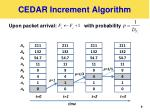 cedar increment algorithm