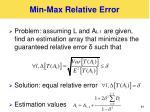 min max relative error