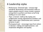 6 leadership styles